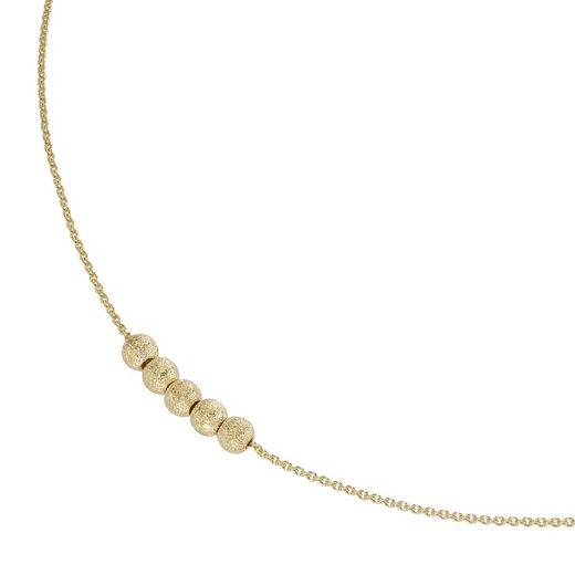 Luigi Merano Goldkette »mit strukturierten Kügelchen, Gold 375«