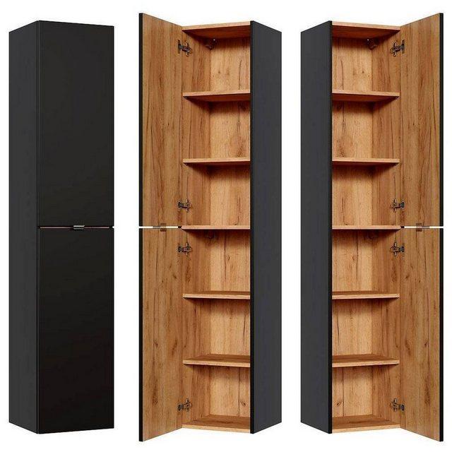 Badezimmer Sets - Lomadox Badmöbel Set »TOSKANA BLACK 56«, (Spar Set, 12 tlg)  - Onlineshop OTTO