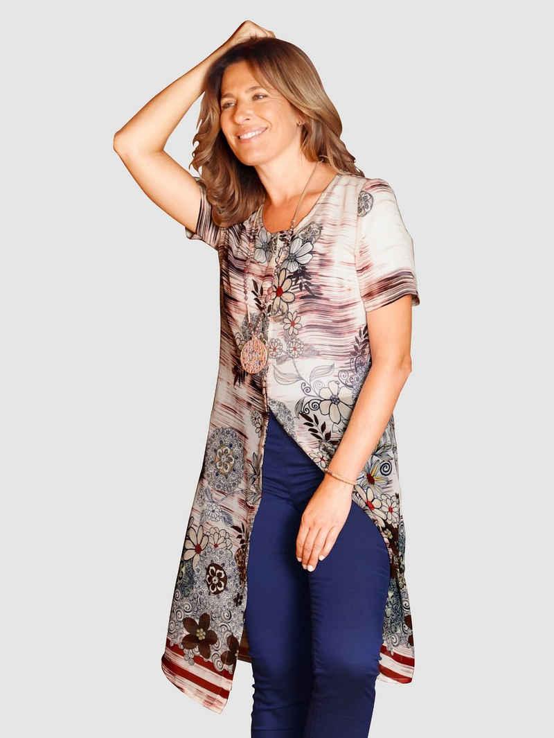 Paola Longtunika mit floralem Dessin