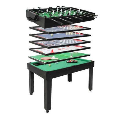MCW Spieltisch »MCW-J15«, (1-tlg), 7 Spielmöglichkeiten in einem, stabiler Holzkorpus