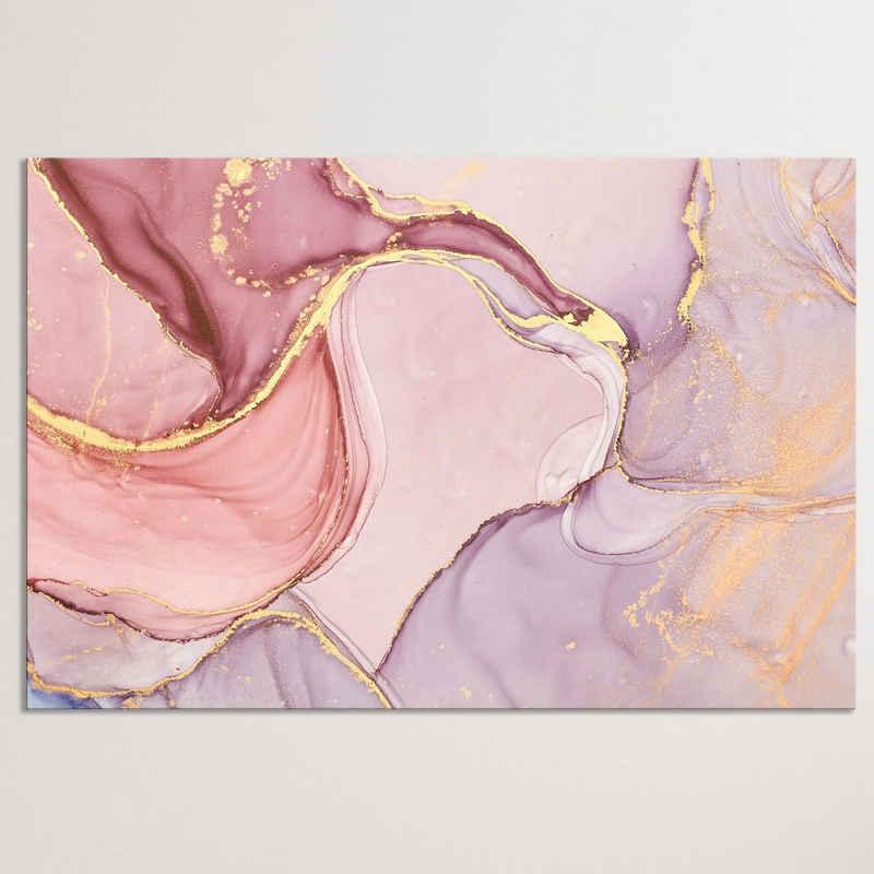 """Dekoli Leinwandbild »""""Marmor Goldrosa"""" - XXL Wandbild«, Leinwandbild geeignet für alle Wohnbereiche"""