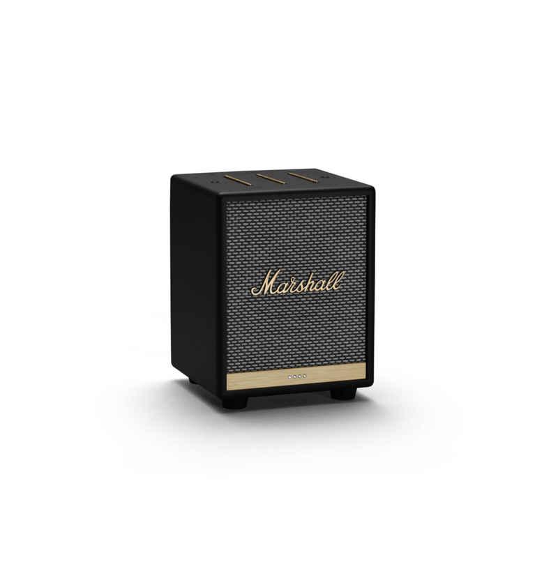 Marshall Uxbridge VOICE Mono Bluetooth-Lautsprecher (Bluetooth, WLAN (WiFi), 30 W, Sprachsteuerung über Google Assistant,96 DB, Class-D Verstärker, Equalizer am Lautsprecher, Airplay 2)