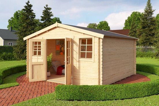OUTDOOR LIFE PRODUCTS Gartenhaus »Mosel 4«, BxT: 410x410 cm, inkl. Fußboden