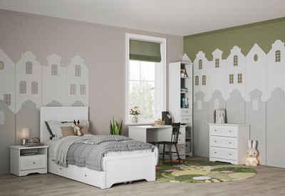 Home affaire Einzelbett »Lucy«, mit dekorative Frässungen, Breite 99 cm