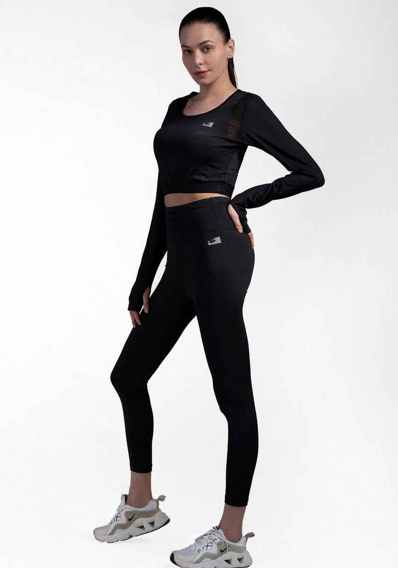 Ocean Sportswear Langarmshirt »Activewear - Crop Longsleeve Shirt« Nachhaltig aus recyceltem Polyester