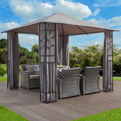 Konifera Pavillon Mit Seitenteilen Kreta Bxtxh 300x300x255 Cm