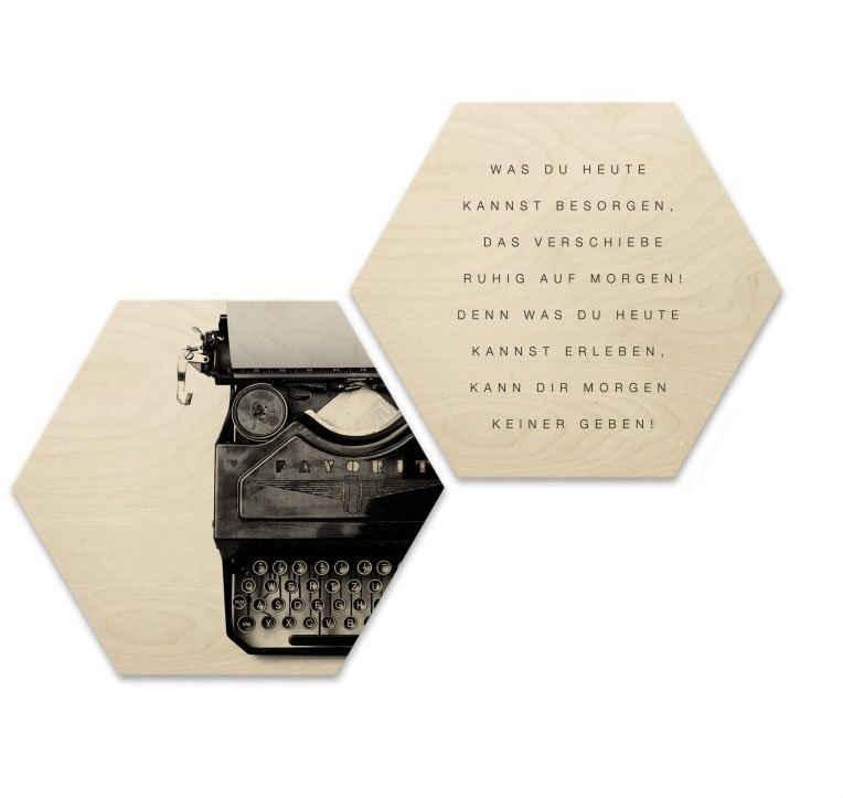 Wall-Art Wandspruch »Zitat Vintage Schriftzug Bilder« (Set, 2 Stück)
