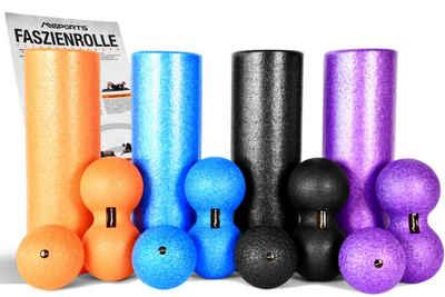 MSports® Pilatesrolle »Faszienrolle + Massageball Premium inkl. Übungsposter FASZIENSET - Professional Studio Qualität Massagerolle Foamroller«