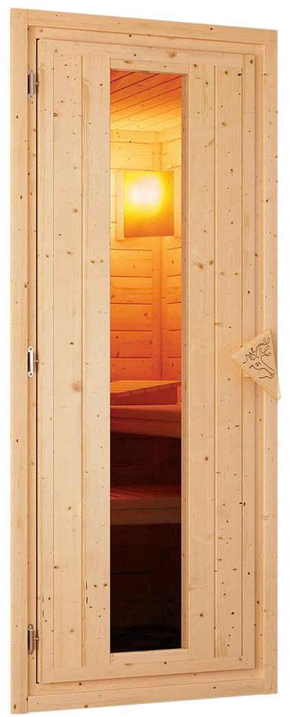 Karibu Saunatür »Türpaket 68 mm«, Holztür mit Isolierglas