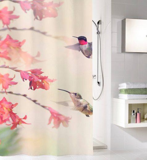 Kleine Wolke Duschvorhang »Kolibri« Breite 180 cm (1-tlg), Höhe 200 cm, mit Beschwerungsband