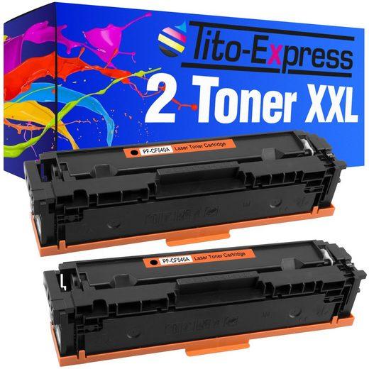 Tito-Express PlatinumSerie Tonerpatrone »2er Set ersetzt HP CF540A CF 540A 203A Black«
