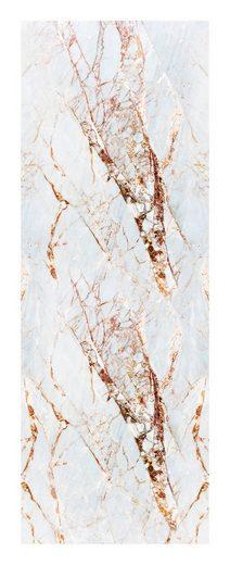 queence Vinyltapete »Marmor-Weiß«, Steinoptik, 90 x 250 cm, selbstklebend