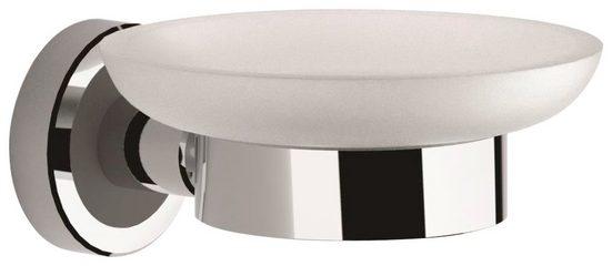ERLAU Seifenhalter, Breite: 13 cm, 2-St., Sicherheitsglas satiniert
