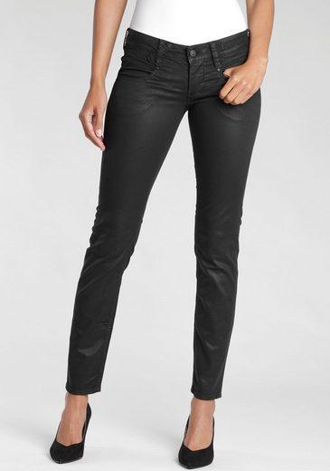 GANG Skinny-fit-Jeans »Nena« mit edel glänzender coating Beschichtung