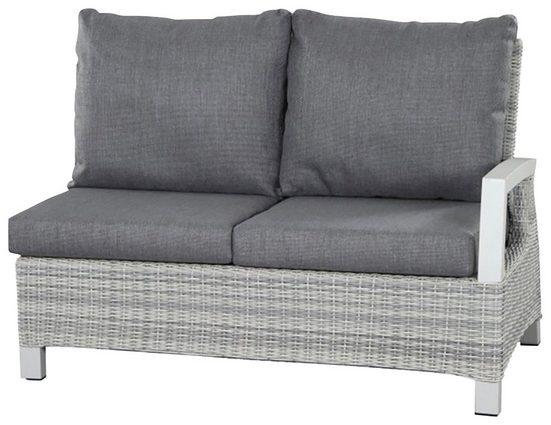 Siena Garden Loungesessel »Corido Modul 2-Sitzer« (1-tlg), Alu/Polyrattan, inkl. Auflagen