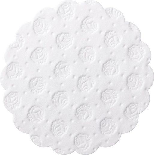 Demmler Tassenuntersetzer 500 weiße Tassendeckchen, Glasuntersetzer, 9cm, Made in Germany