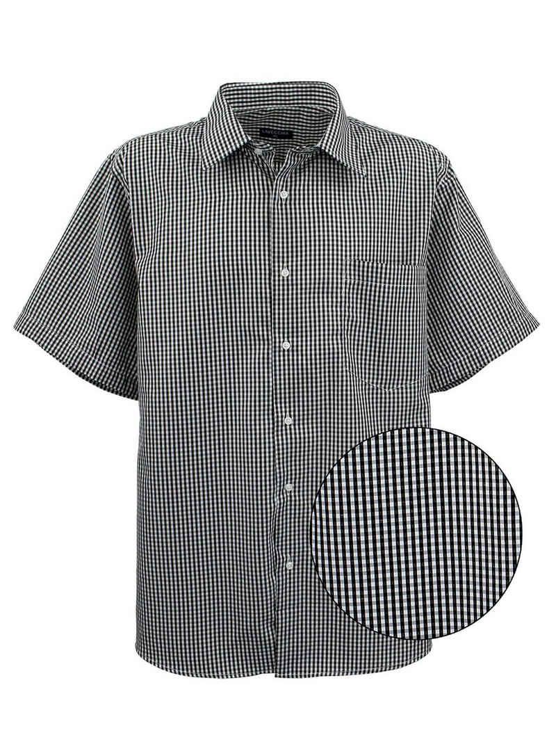 Lavecchia Kurzarmhemd »Übergrößen Herren Hemd HKA19« Herrenhemd im trendigen Karo-Look