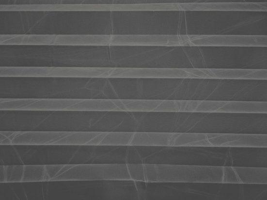 Plissee nach Maß »VOILE CRASH«, DELAVITA, Lichtschutz, mit Bohren, verspannt, Crushed-Optik, Schienenfarbe weiß
