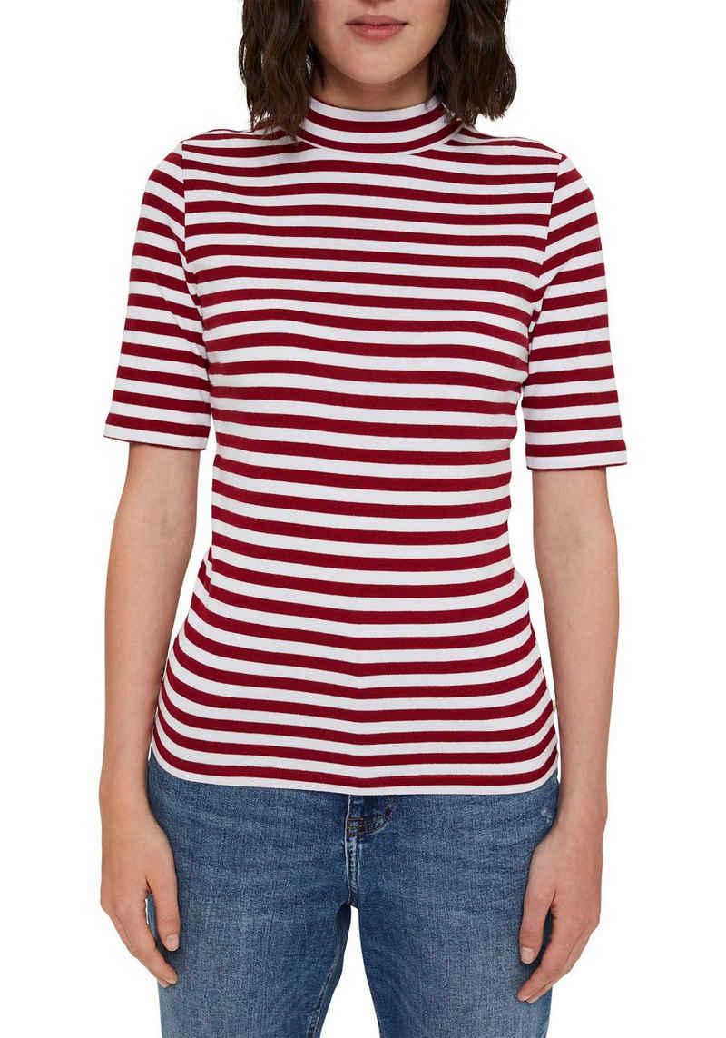 edc by Esprit T-Shirt mit halbem Arm und mit kleinem Stehkragen