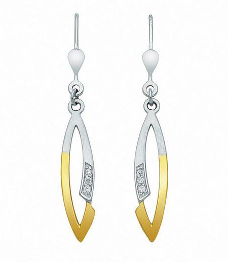 Adelia´s Paar Ohrhänger »925 Silber Ohrringe / Ohrhänger mit Zirkonia«, 925 Sterling Silber Silberschmuck für Damen