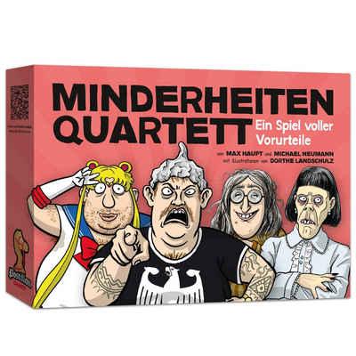 Postillon Games Spiel, Kartenspiel »Minderheiten Quartett - Ein Spiel voller Vorurteile«