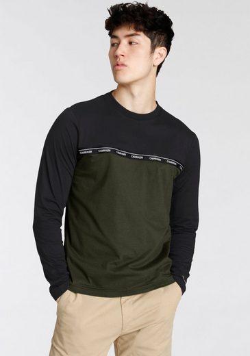 Calvin Klein Langarmshirt »Logo Stripe«