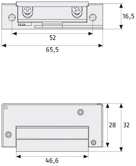 ABUS Türöffner »ET85 EK«, elektrisch mit kleinen Einbaumaßen und Fallenjustierung