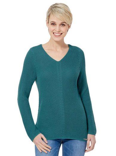 Casual Looks V-Ausschnitt-Pullover