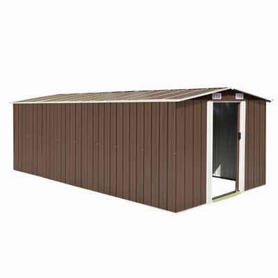 vidaXL Gartenhaus »vidaXL Geräteschuppen 257x489x181 cm Metall Braun«