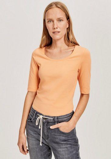 OPUS Langarmshirt »Sanika« im Basic-Look