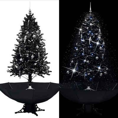 vidaXL Christbaumschmuck »vidaXL Schneiender Weihnachtsbaum mit Schirmfuß Schwarz«