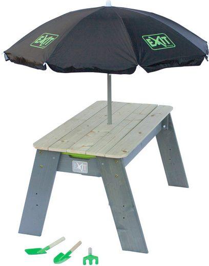 EXIT Spielzeug »Spieltisch Aksent L DELUXE«, BxL: 94x69 cm, inkl. Sonnenschirm und Gartenwerkzeuge