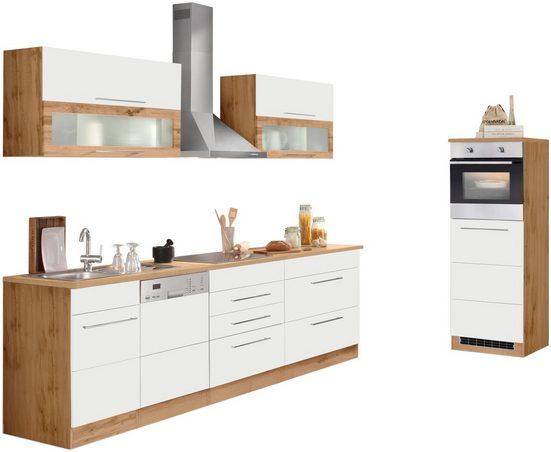 HELD MÖBEL Küchenzeile »Wien«, mit E-Geräten, Breite 350 cm, wahlweise mit Induktion