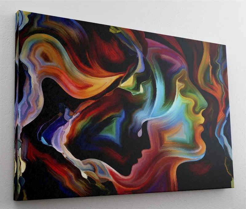 DesFoli Leinwandbild »Gemälde Aquarell Abstrakt L1566«