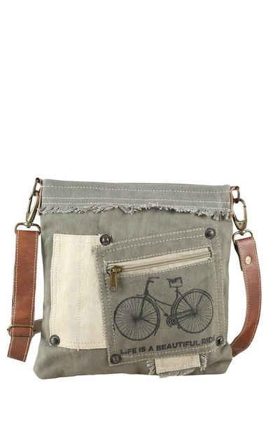 COLLEZIONE ALESSANDRO Umhängetasche »Liddy«, mit Fahrrad Motiv und Lederelementen