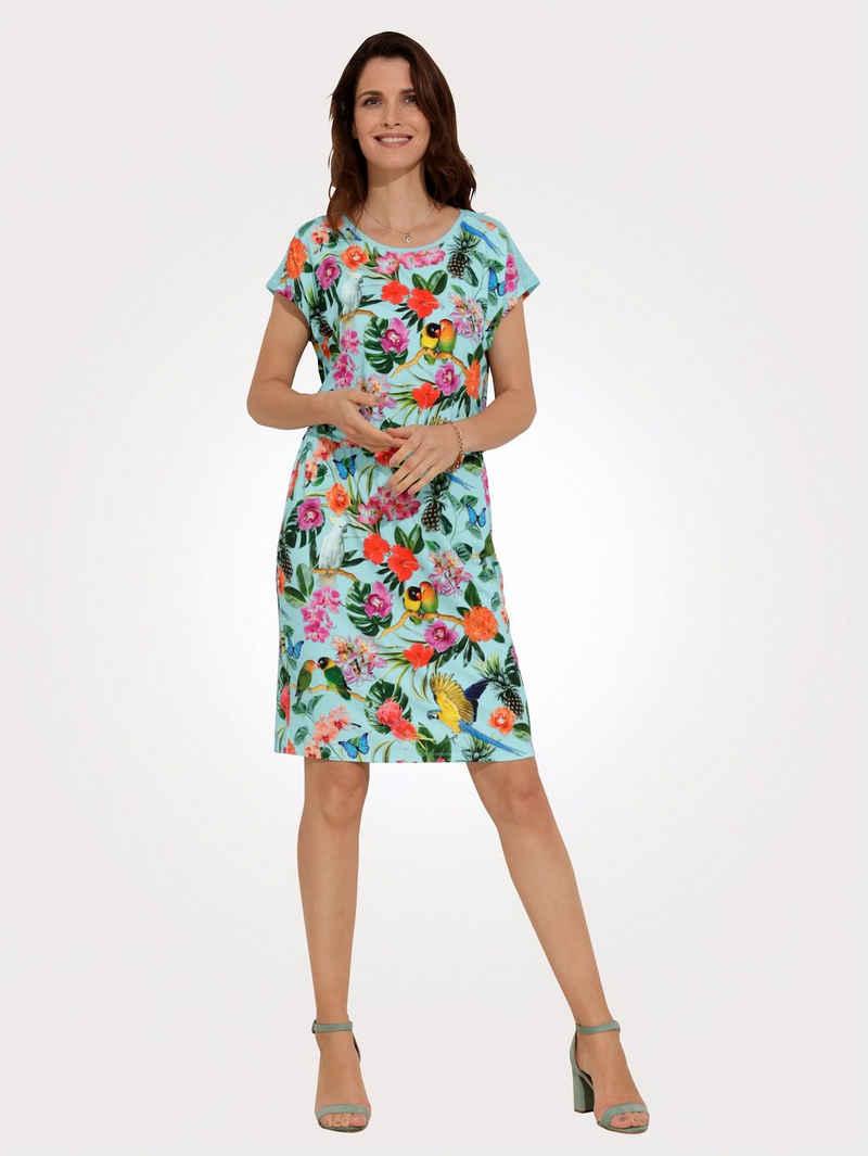 Mona Jerseykleid mit Netz-Einsätzen