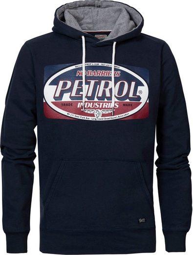 Petrol Industries Kapuzensweatshirt mit Markenprint vorne