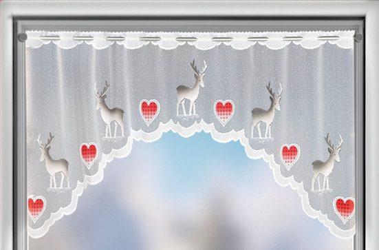 Panneaux »Rentier«, Albani, Stangendurchzug (1 Stück), Jacquard-Bogenpanneaux, handcoloriert