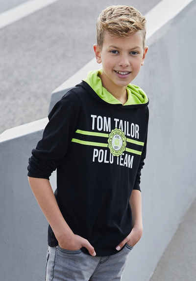 TOM TAILOR Polo Team Kapuzenshirt »Kapuze mit Kontrastfutter«