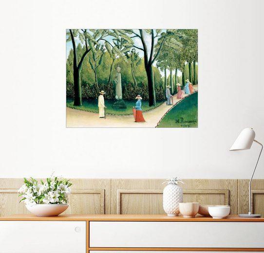 Posterlounge Wandbild, Der Spaziergang im Jardin du Luxembourg, Denkmal Chopins