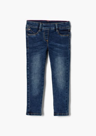s.Oliver 5-Pocket-Jeans »Regular: Treggings mit Elastikbund« Waschung
