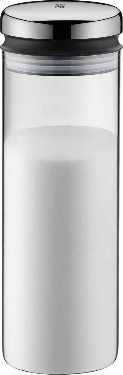 WMF Vorratsglas »Depot«, Cromargan® Edelstahl Rostfrei 18/10, Glas, Kunststoff, (1-tlg), verschließt aromadicht