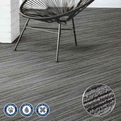 Teppichfliese »Teppichdielen Birch«, Kubus, rechteckig, Höhe 5 mm, Selbstliegend, In Kombination mit Fußbodenheizungen nutzbar