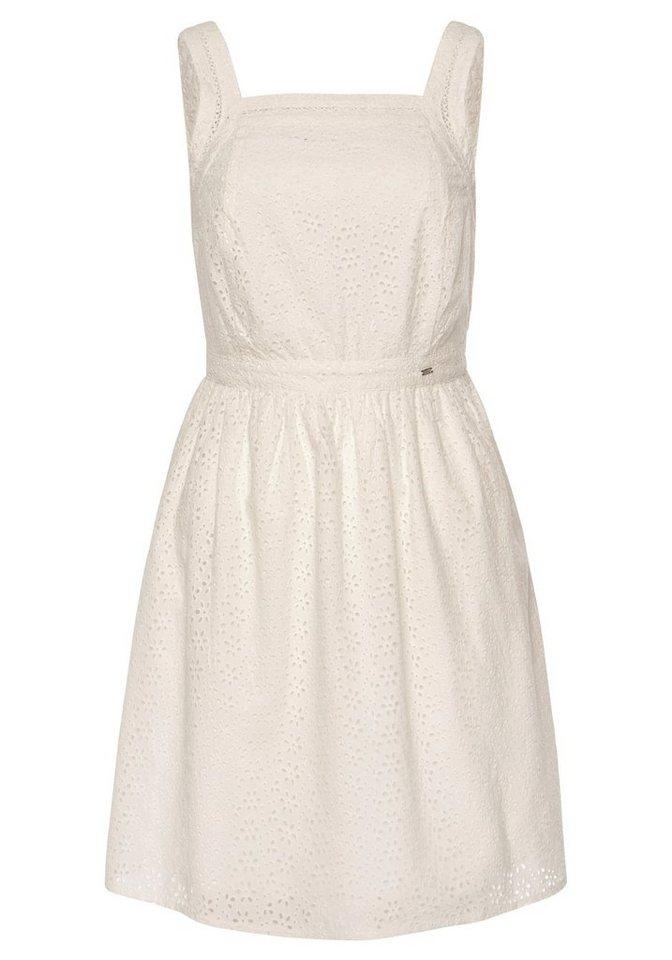 Festtagsmode - Superdry Spitzenkleid »BLAIRE BRODERIE DRESS« aus Allover Lochstickerei › weiß  - Onlineshop OTTO