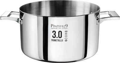 PINTINOX Fleischtopf »Century 3.0«, Aluminium, (1-tlg), Boden und Seitenwände komplett aus 3 Schicht Material gefertigt, Induktion