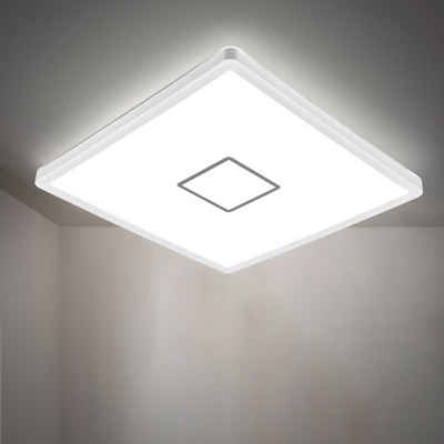 B.K.Licht LED Deckenleuchte, LED Deckenlampe ultraflach Wohnzimmer Panel Flur Slim inkl. 18W 2400lm