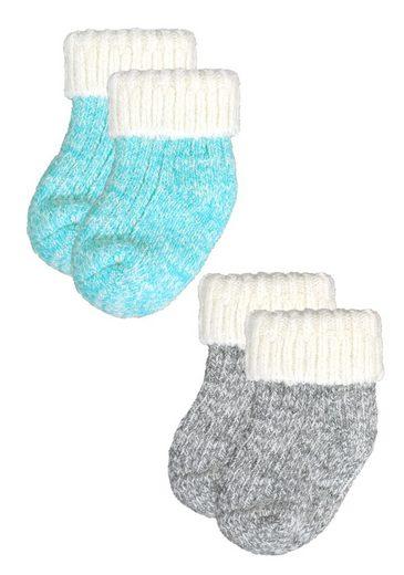 Rogo Socken (2-Paar) mit kuscheligem Umschlagrand