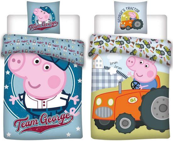 Babybettwäsche »Peppa Pig - Peppa Wutz - 2 x Baby-Bettwäsche-Set, 100x135 & 40x60 cm«, Peppa Pig, 100% Baumwolle