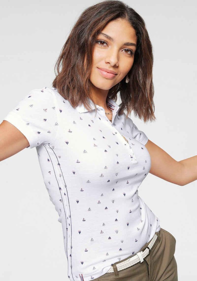 KangaROOS Poloshirt mit maritimem Allover-Print