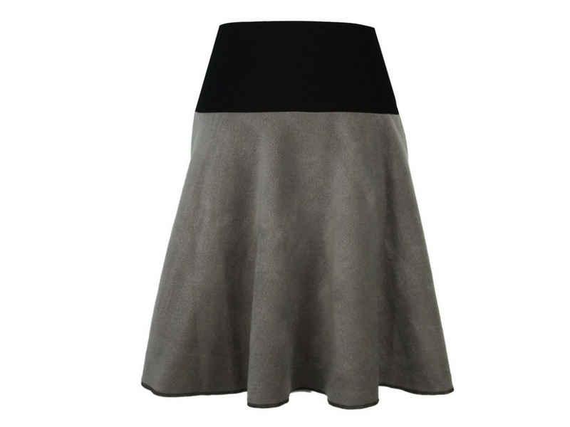 dunkle design A-Linien-Rock »Fleece 57cm« elastischer Bund